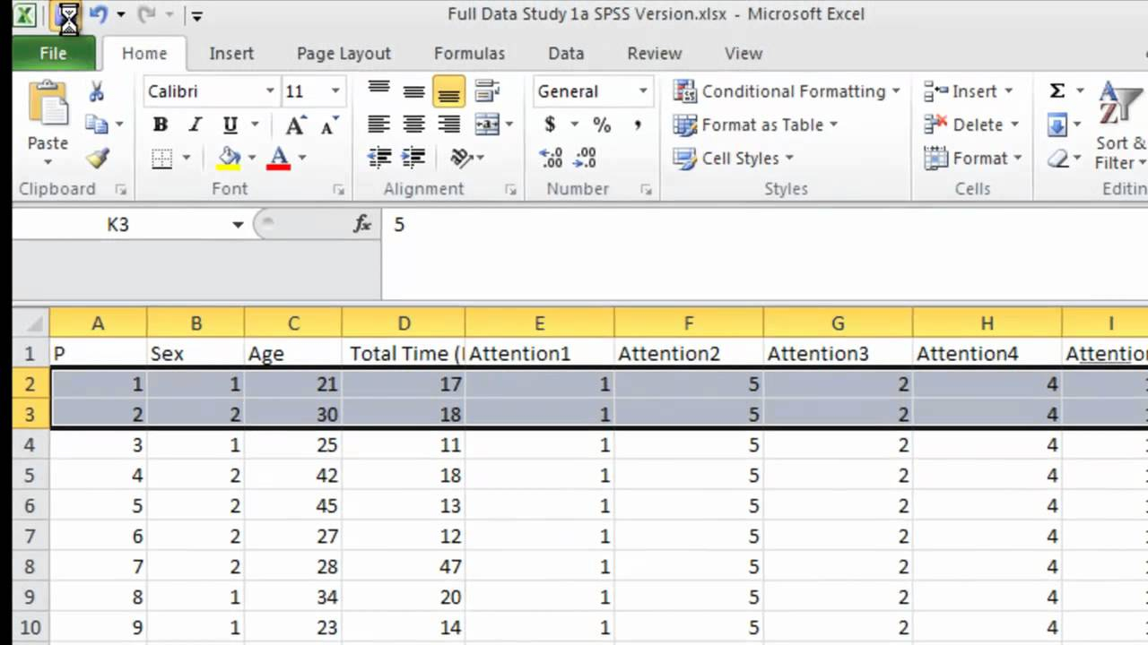 Importing Data From Excel Into Spss/Pasw – Youtube Within How To Convert Excel Data Into A Calendar In Excel
