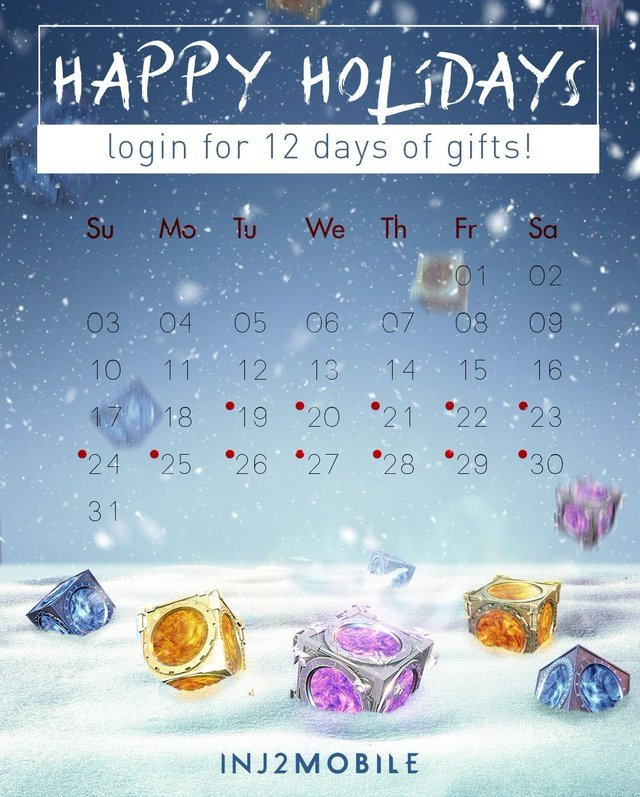 Injustice 2 — Our Holiday Calendar Has Begun! Log In Every Intended For Every Day A Holiday Calendar