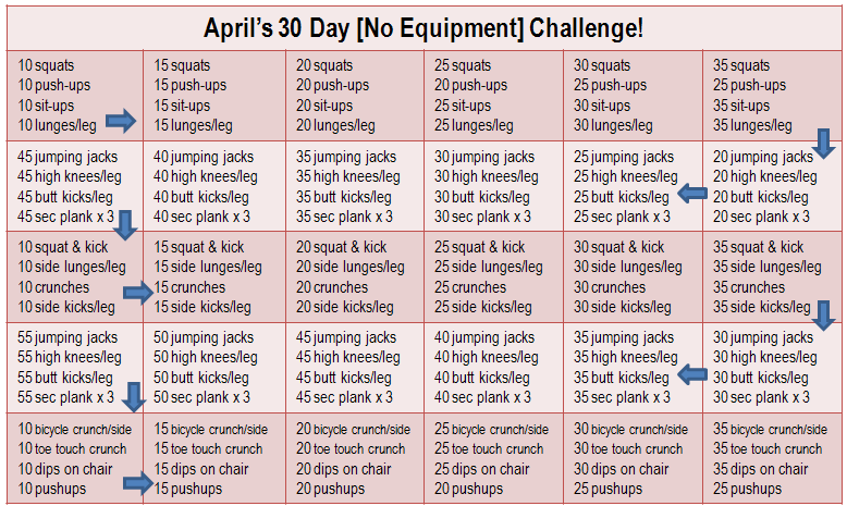 Join My 30 Day No Equipment Challenge! | 30 Day Workout With Regard To April Fitness Challenge
