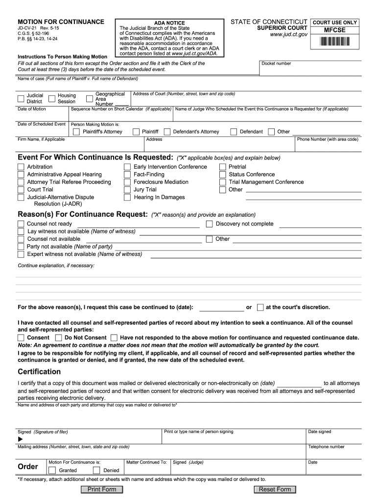 Jud Ct – Fill Out And Sign Printable Pdf Template | Signnow With Regard To Court Calendar By Defendant Name