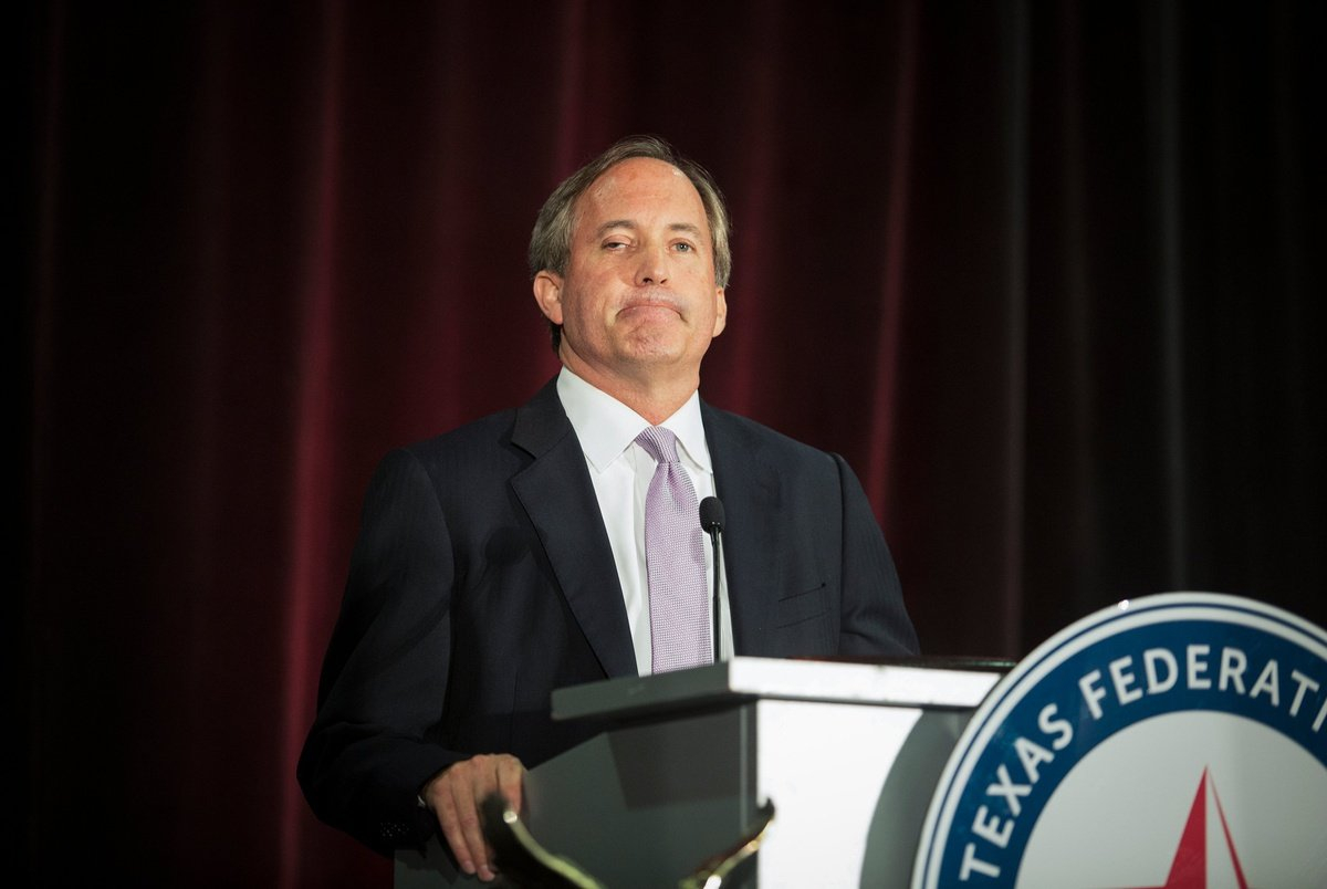 Ken Paxton Is Only State Attorney General In The U.s. Who In Sticker Calendar Tx Attorney General