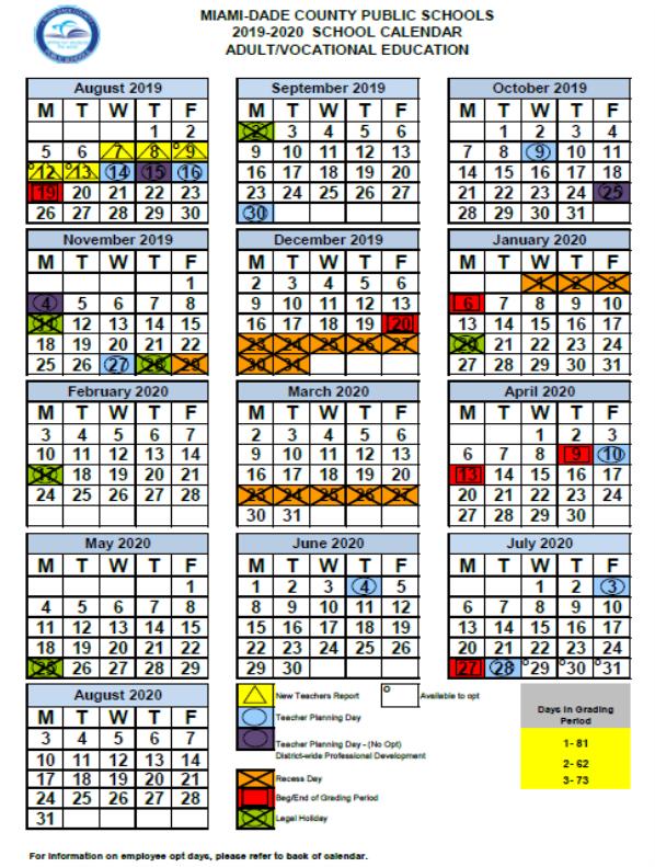 Miami Arts Charter School Calendar Within Bay County School Calendar 2020/2021