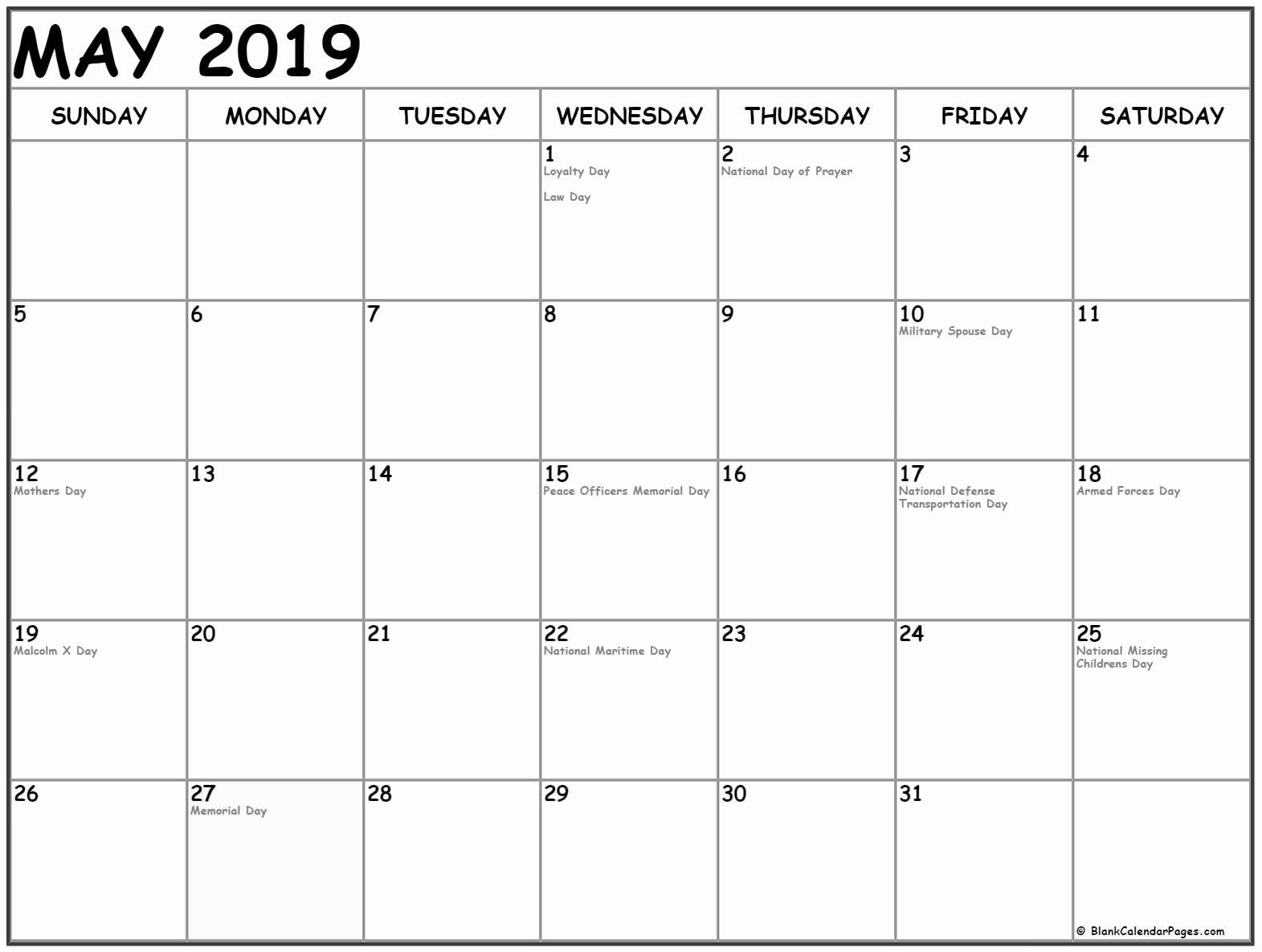 National Holidays Calendar May 2019 #May2019 #2019Calendar Pertaining To 454 2021 Calendar