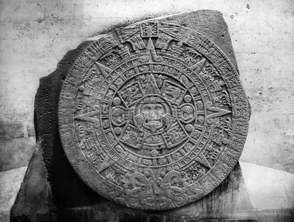 Posterazzi: Mexico Stone Of The Sun Nthe Aztec Stone Of The Sun Discovered In 1790 In Mexico Regarding Mexican Calendar Names