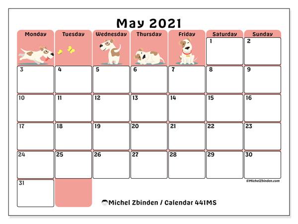 "Printable May 2021 ""441Ms"" Calendar – Michel Zbinden En For Printable Sunrise And Sunset Calander 2021"