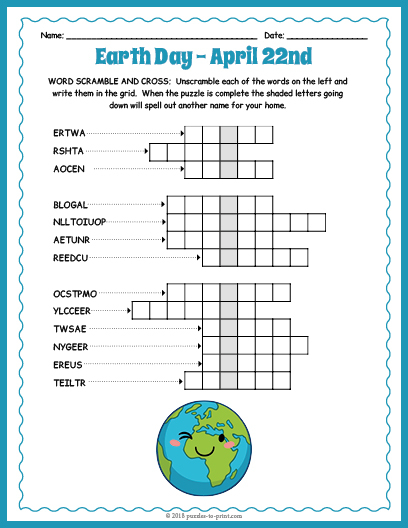 Puzzles To Print Inside Word Of The Day Pfrint