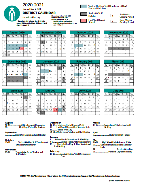 Round Rock Isd Calendar 2021 2022 | Printable March Pertaining To Texas Tech Holiday 2021