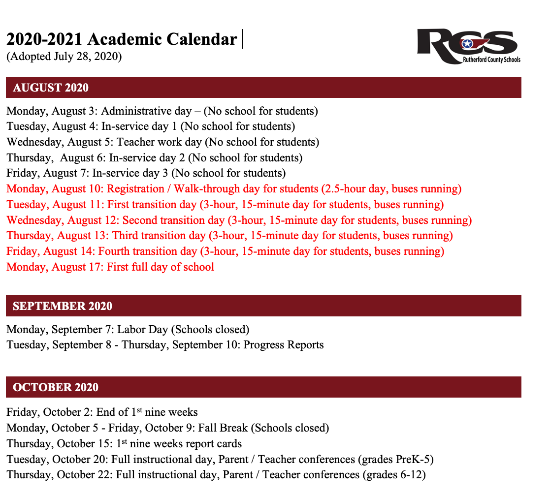 Rutherford County Schools 2021 2022 Calendar | Calendar 2021 With 2021 2022 Aiken County Public School Calendar