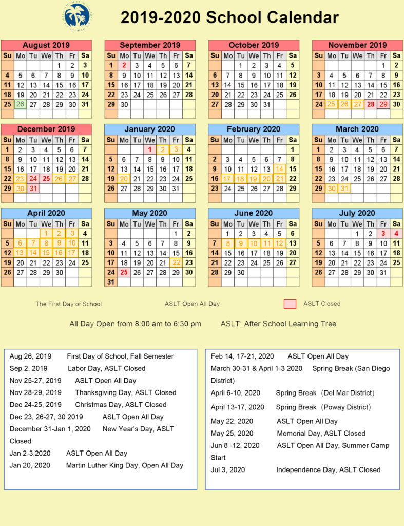 San Diego School Calendar 2021 | Printable Calendar 2020-2021 throughout Fayette County Ga Public Schools Calendar