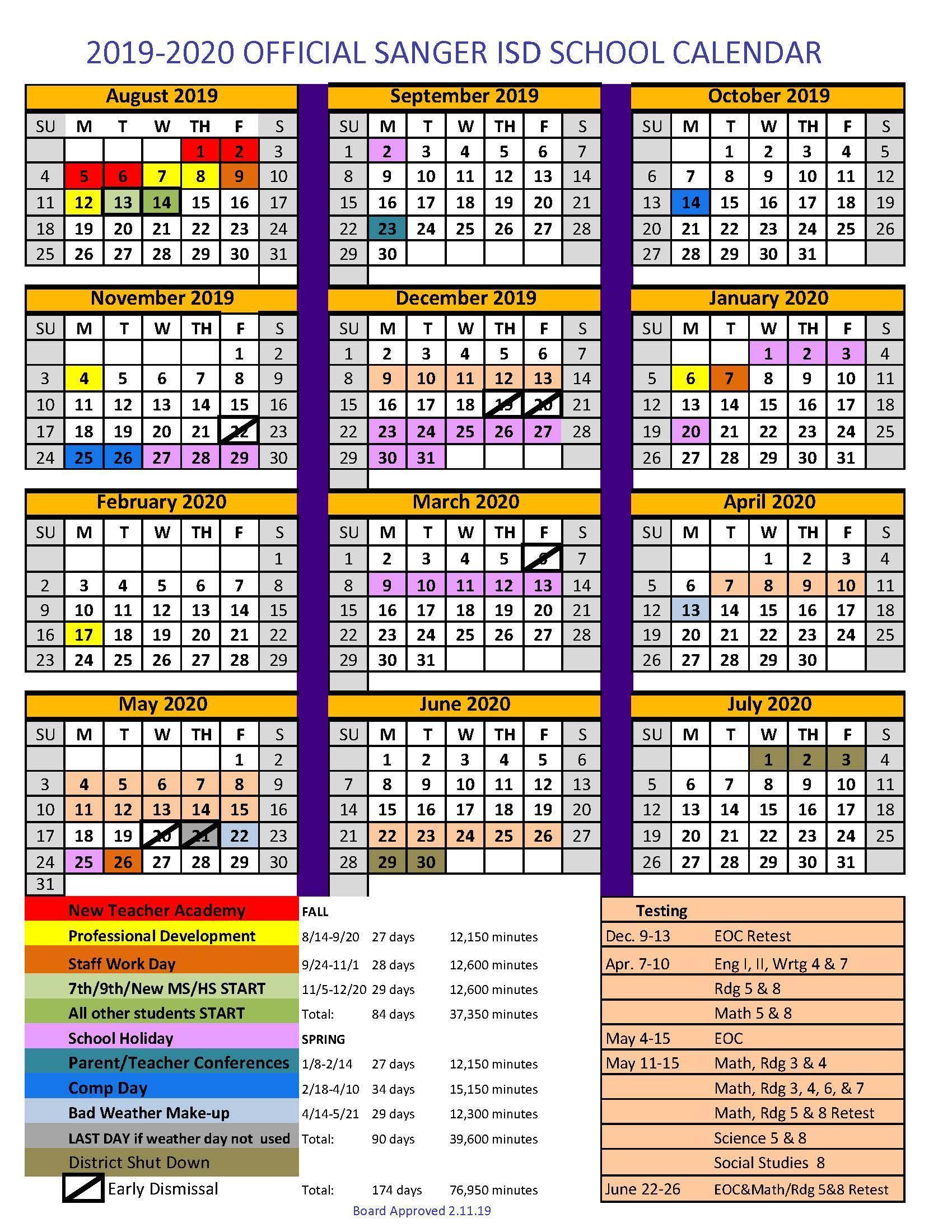 Sanger Independent School District Regarding Texas Tech Holiday 2021