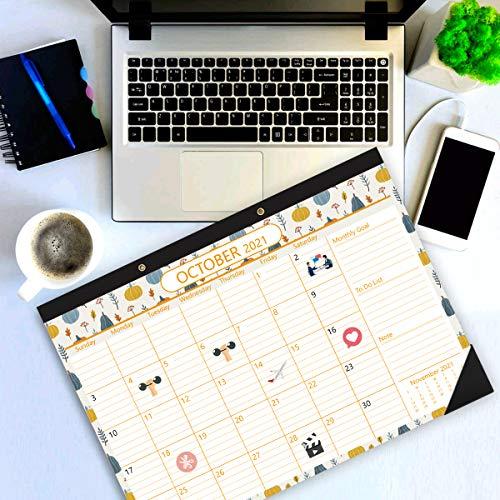 Stobok 2021 Desk Calendar,Large Monthly 24 Months Wall Throughout Julian Date Calendar 2022