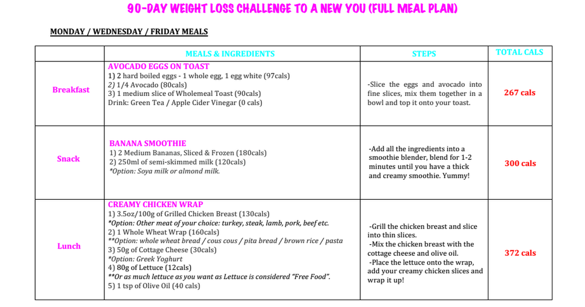Supreme 90 Day Workout Meal Plan Pdf | Eoua Blog Throughout Supreme 90 Day Schedule
