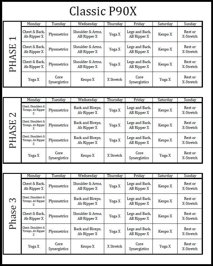 Supreme 90 Day Workout Schedule Pdf | Eoua Blog Regarding Supreme 90 Day Schedule