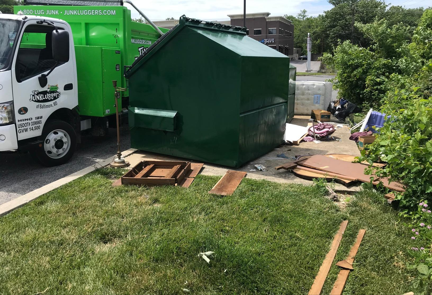 The Junkluggers Of Baltimore Before & After Photo Set Intended For Town Of Oyster Bay Curbside Bulk Sanitation
