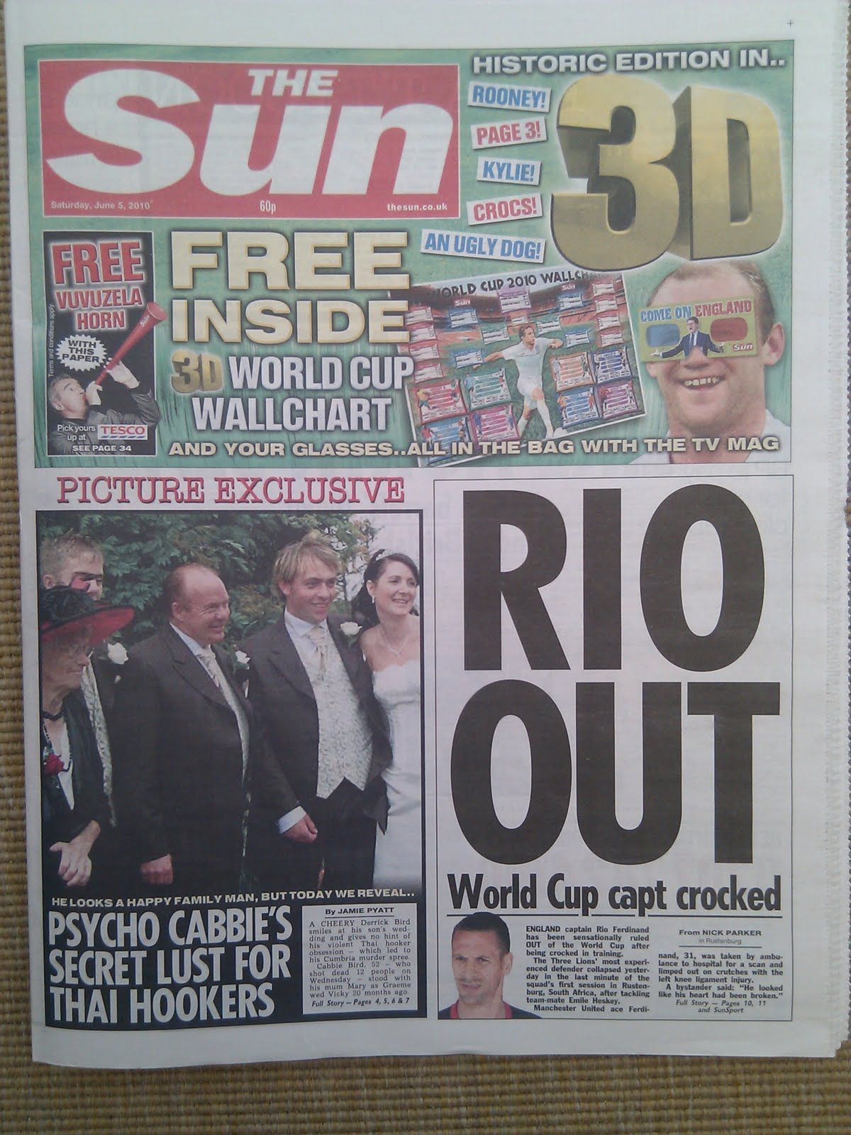 The Sun 3D Newspaper On Sale Today – With 3D Page 3, 3D Throughout Sun Page Three
