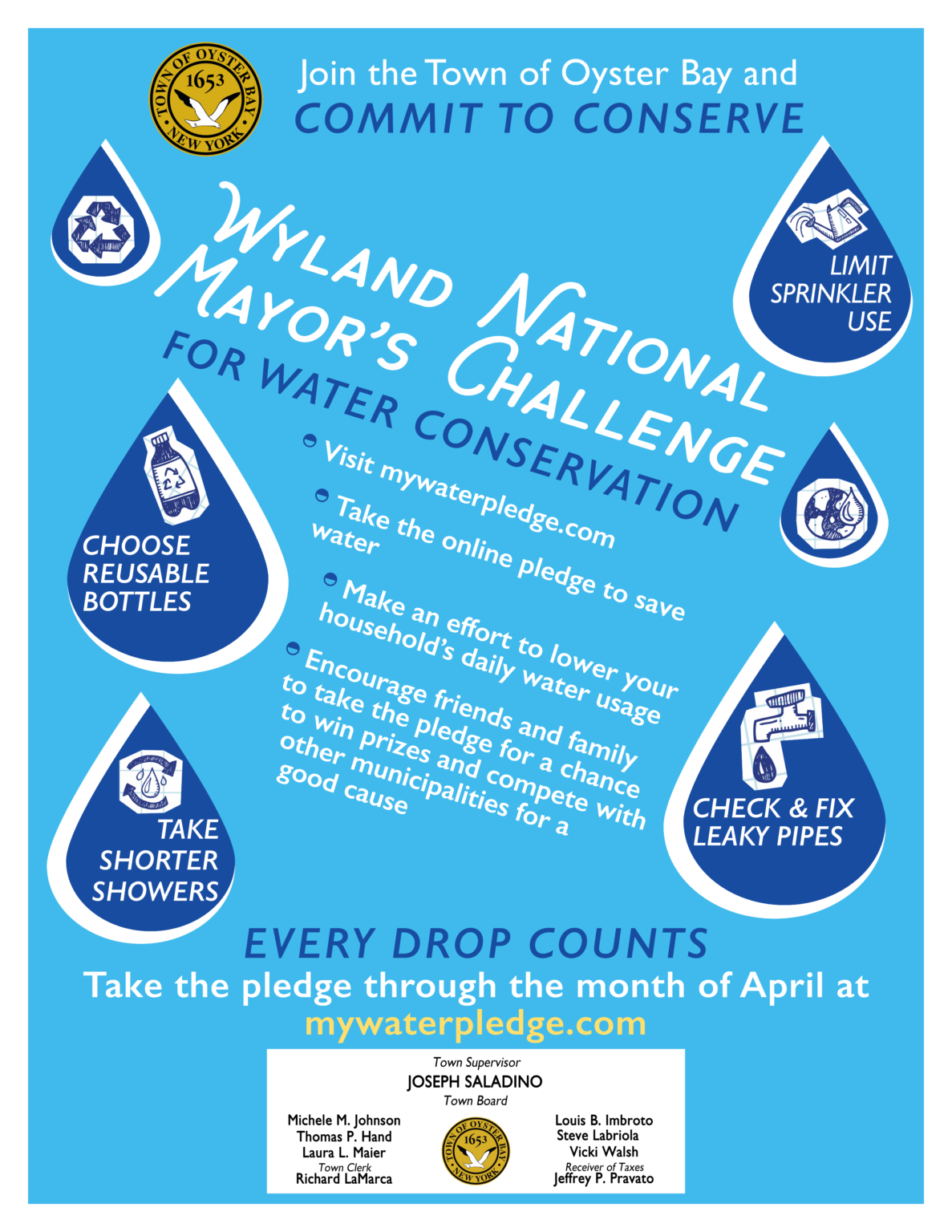 Town Invites Residents To 'Commit To Conserve' In Wyland Within Town Of Oyster Bay 2021 Town Calendar