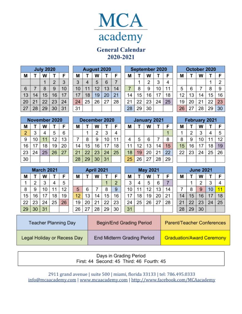 U Miami Calendar 2020 | Calendar Printables Free Templates for Miami Dade Public School Calendar 2020 2021