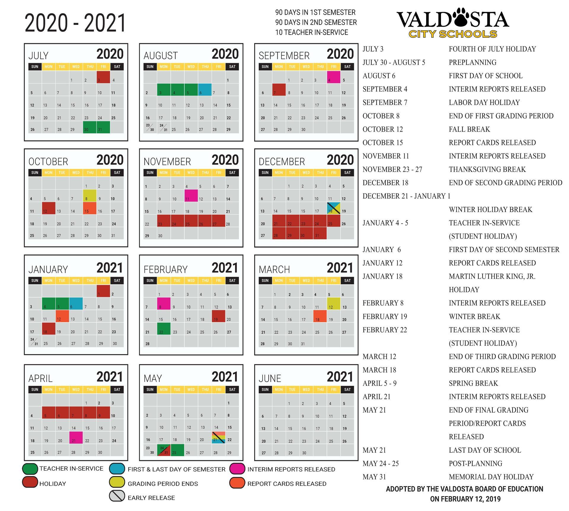U Miami Calendar 2020   Calendar Printables Free Templates Intended For Miami Dade Public School Calendar 2020 2021