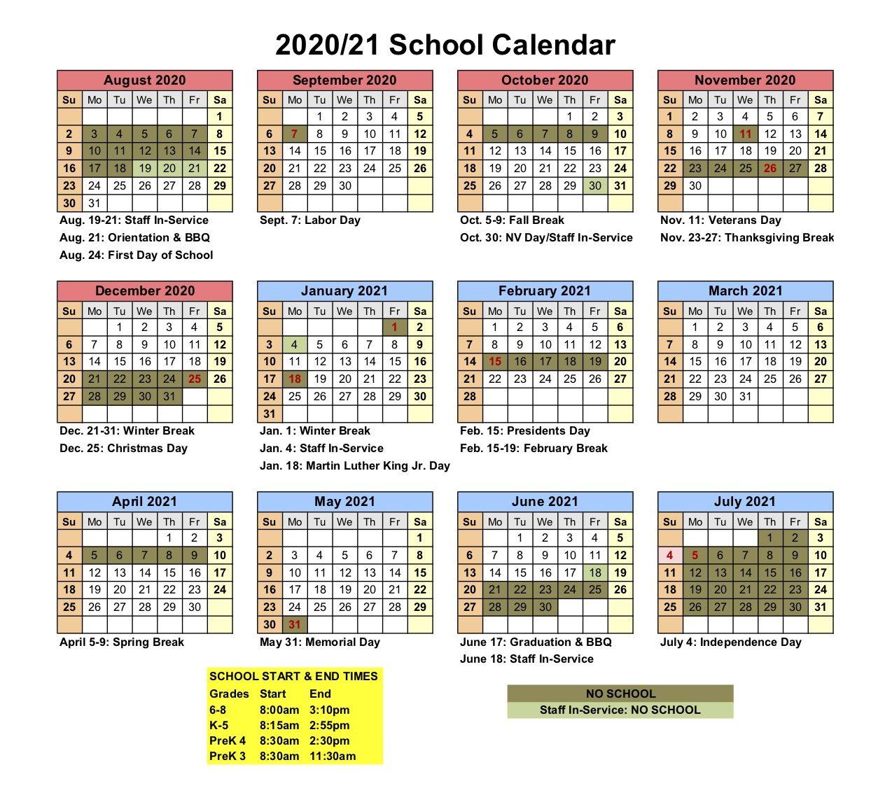 Unr Spring 2021 Calendar – Calendar 2021 Within Bay County School Calendar 2020/2021