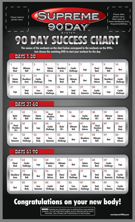 """Workout Schedule. **Supreme 90Day System, """"Get Ripped In with regard to Supreme 90 Day Schedule"""